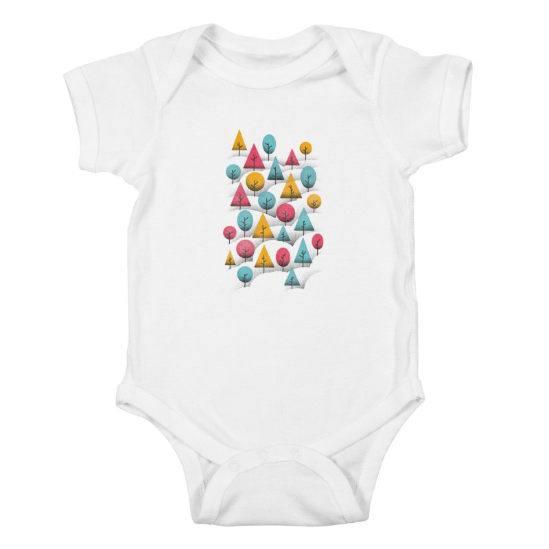 Forest Through The Trees Kids Baby Bodysuit by gintron's Artist Shop