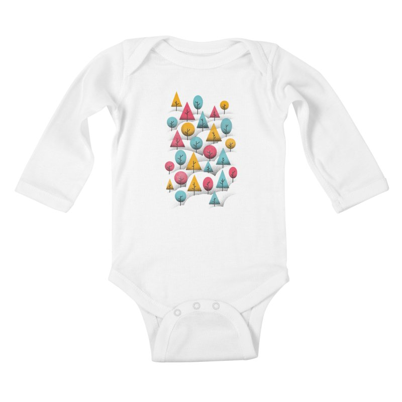 Forest Through The Trees Kids Baby Longsleeve Bodysuit by gintron's Artist Shop