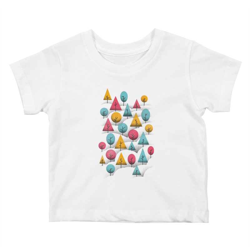 Forest Through The Trees Kids Baby T-Shirt by gintron's Artist Shop