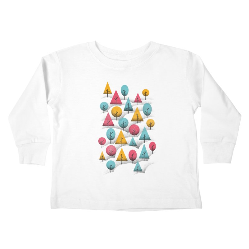 Forest Through The Trees Kids Toddler Longsleeve T-Shirt by gintron's Artist Shop
