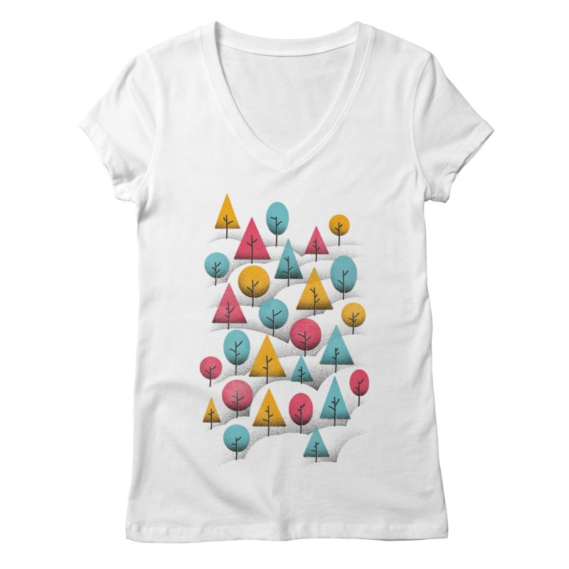 Forest Through The Trees Women's Regular V-Neck by gintron's Artist Shop