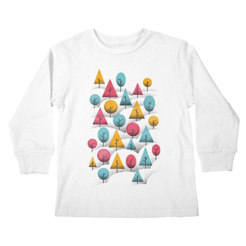 Forest Through The Trees Kids Longsleeve T-Shirt by Gintron
