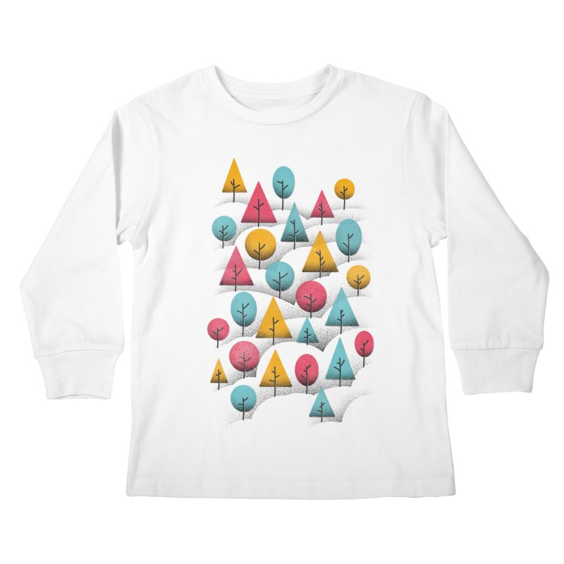 Forest Through The Trees Kids Longsleeve T-Shirt by gintron's Artist Shop