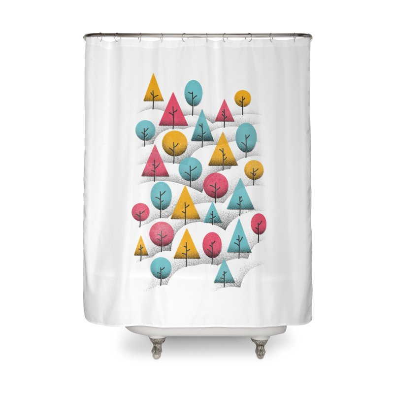 Forest Through The Trees Home Shower Curtain by Gintron
