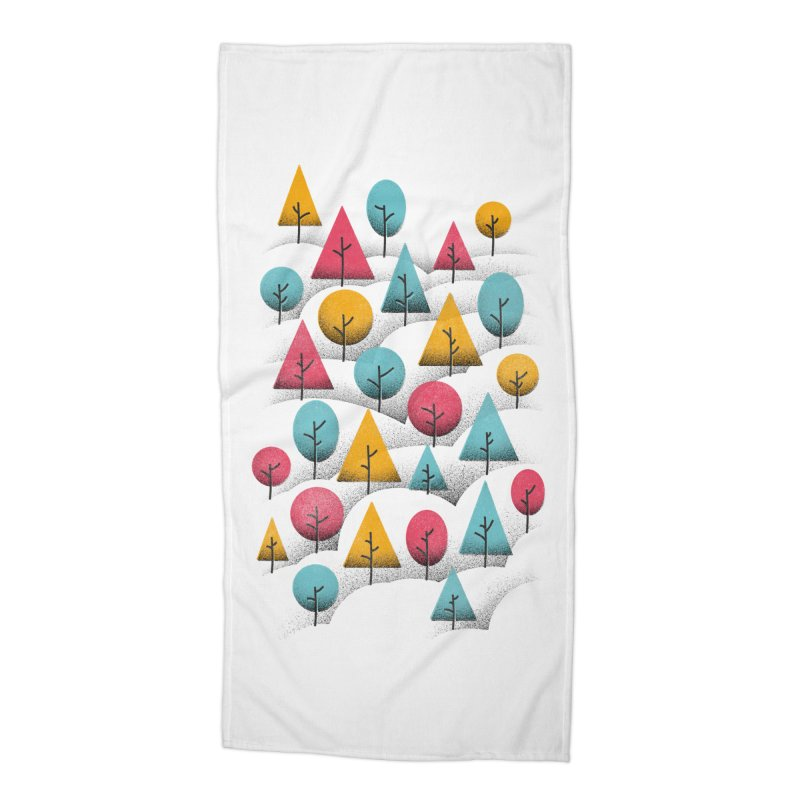 Forest Through The Trees Accessories Beach Towel by gintron's Artist Shop