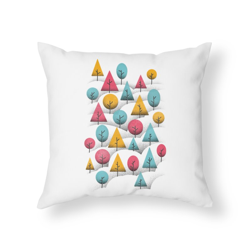 Forest Through The Trees Home Throw Pillow by gintron's Artist Shop