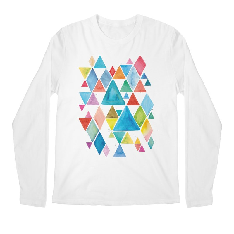 Mountain Ranges Men's Longsleeve T-Shirt by gintron's Artist Shop