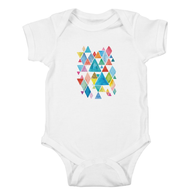 Mountain Ranges Kids Baby Bodysuit by gintron's Artist Shop