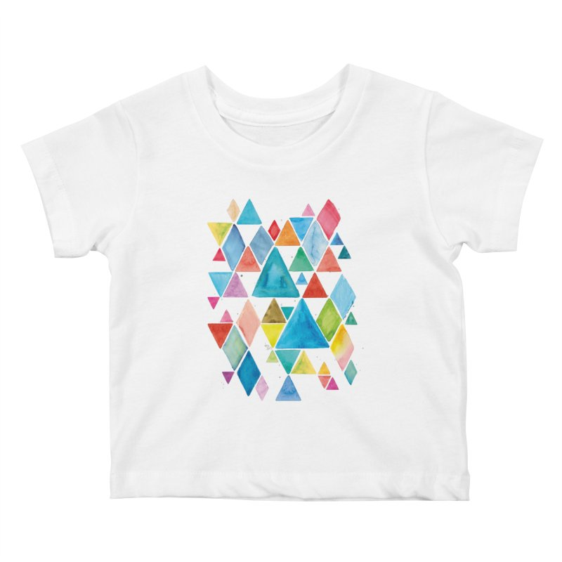 Mountain Ranges Kids Baby T-Shirt by gintron's Artist Shop