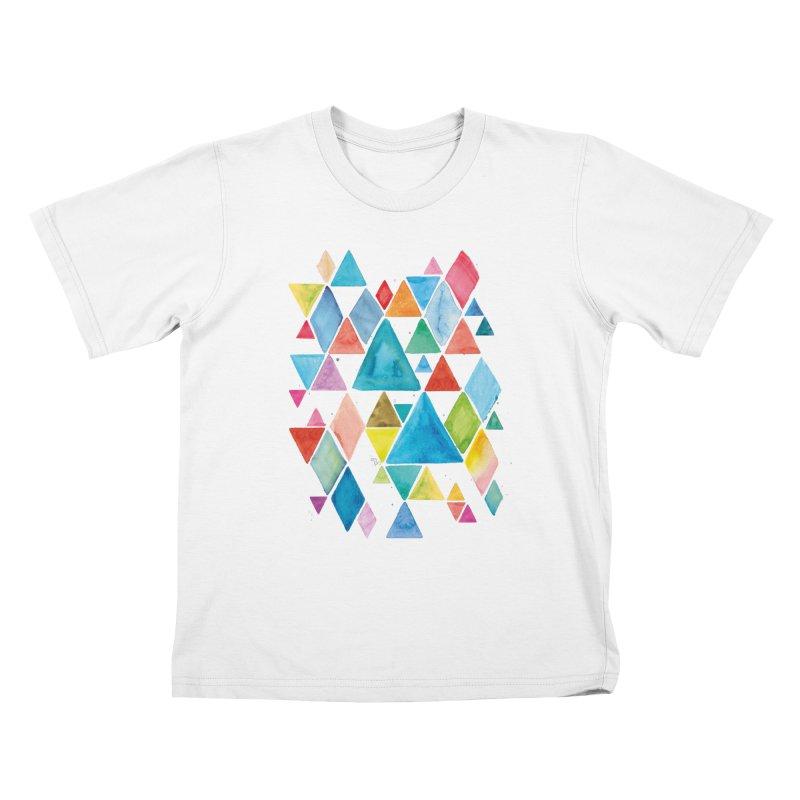 Mountain Ranges Kids T-shirt by gintron's Artist Shop