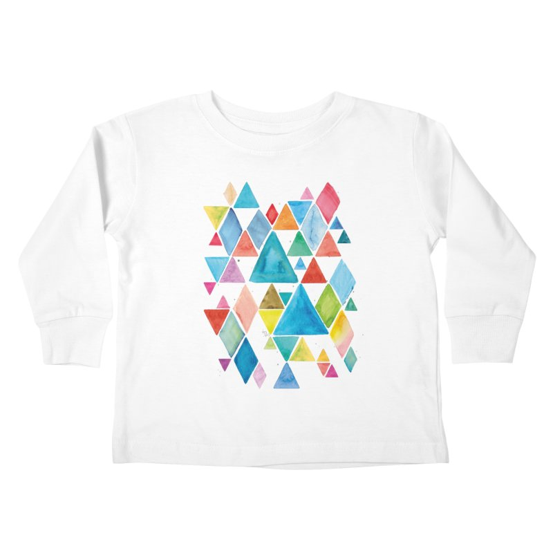Mountain Ranges Kids Toddler Longsleeve T-Shirt by Gintron