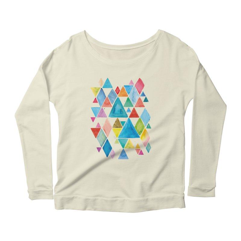 Mountain Ranges Women's Scoop Neck Longsleeve T-Shirt by gintron's Artist Shop