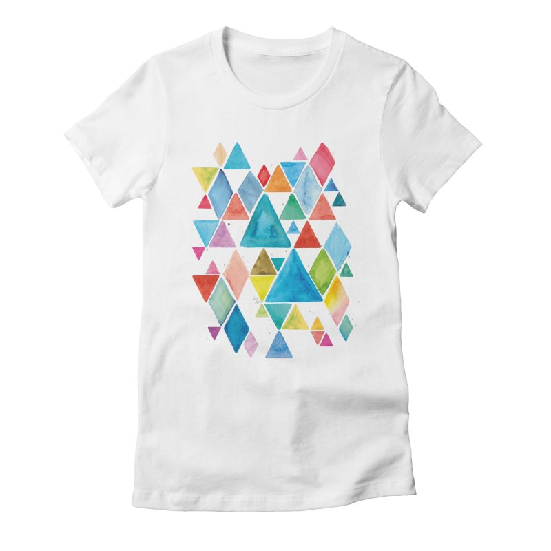 Mountain Ranges Women's Fitted T-Shirt by gintron's Artist Shop