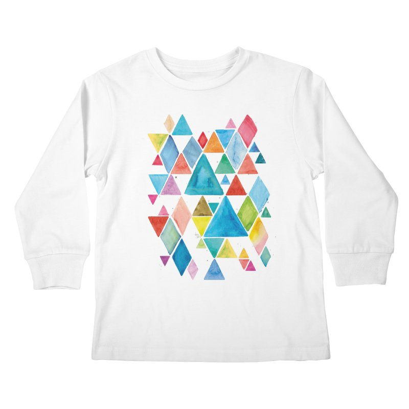 Mountain Ranges Kids Longsleeve T-Shirt by gintron's Artist Shop
