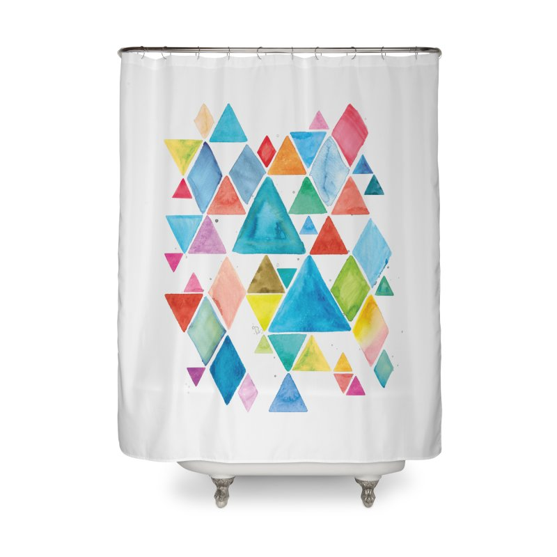 Mountain Ranges Home Shower Curtain by Gintron