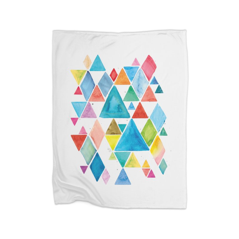 Mountain Ranges Home Blanket by Gintron