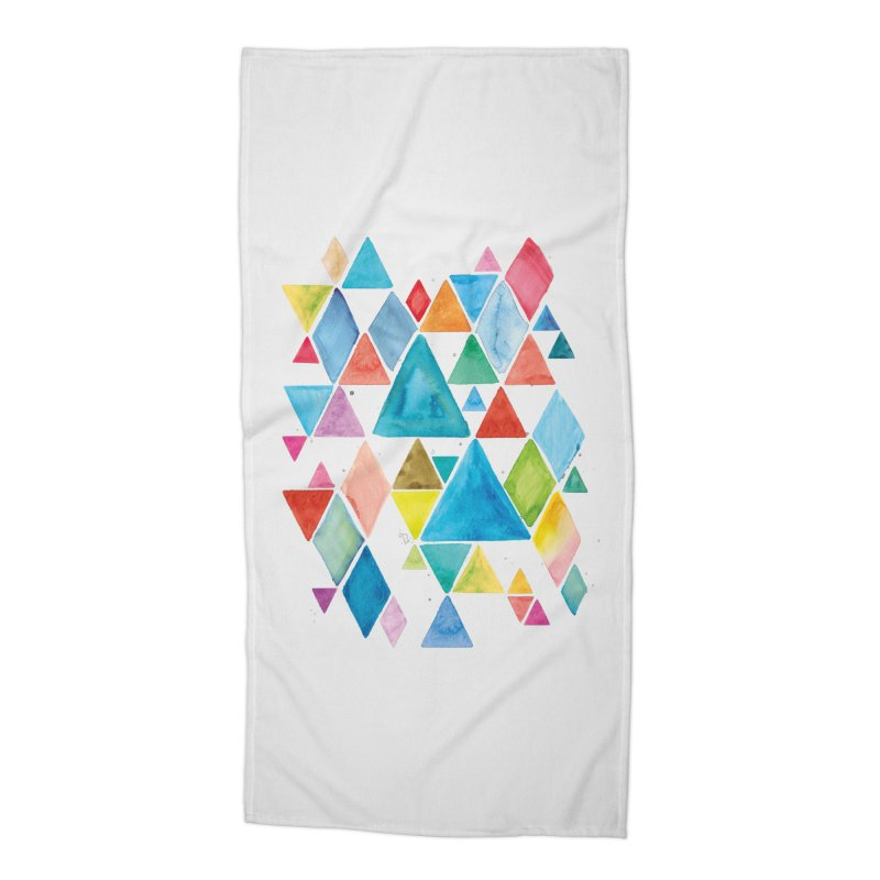 Mountain Ranges Accessories Beach Towel by gintron's Artist Shop