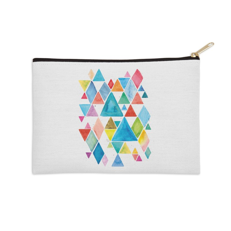 Mountain Ranges Accessories Zip Pouch by Gintron