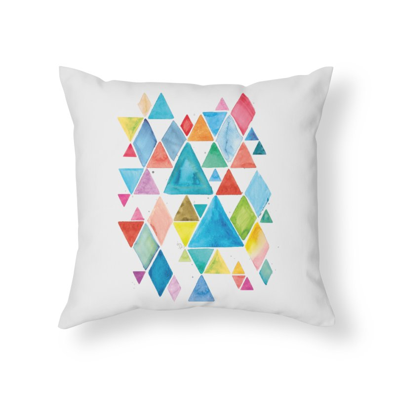 Mountain Ranges Home Throw Pillow by gintron's Artist Shop