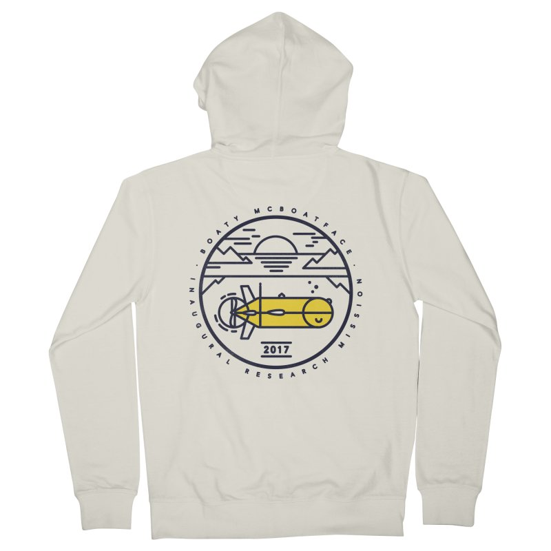Boaty McBoatface Launch Men's French Terry Zip-Up Hoody by gintron's Artist Shop