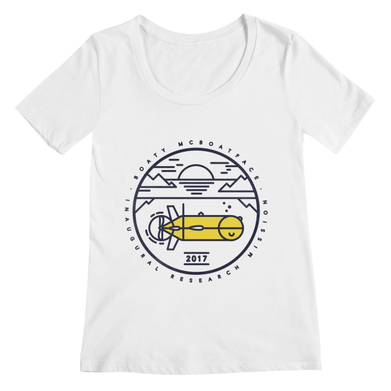 Boaty McBoatface Launch Women's Scoopneck by gintron's Artist Shop