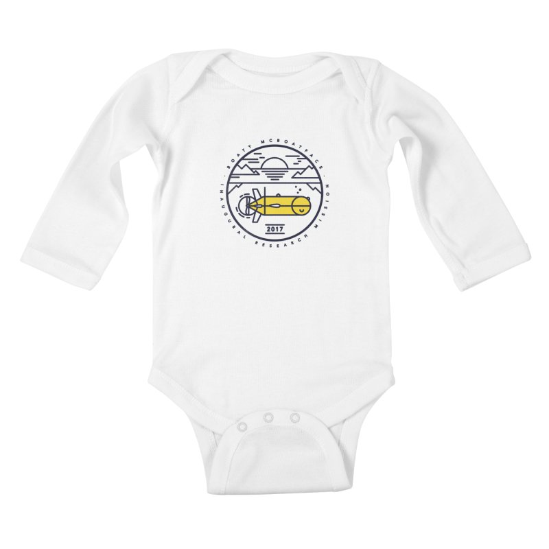 Boaty McBoatface Launch Kids Baby Longsleeve Bodysuit by gintron's Artist Shop