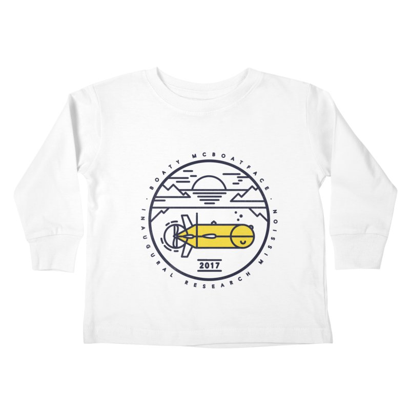 Boaty McBoatface Launch Kids Toddler Longsleeve T-Shirt by gintron's Artist Shop