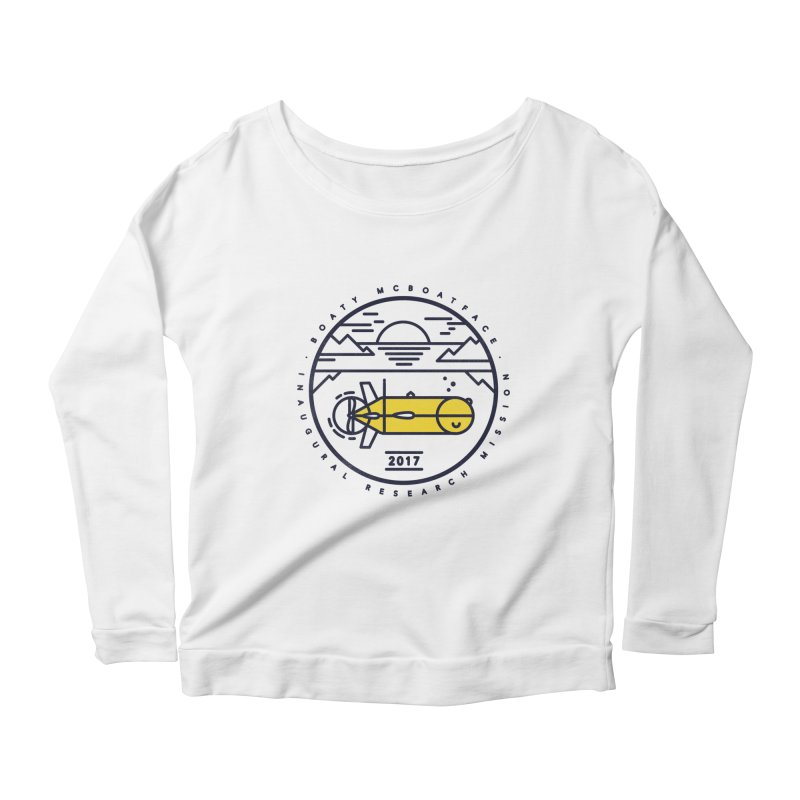 Boaty McBoatface Launch Women's Scoop Neck Longsleeve T-Shirt by gintron's Artist Shop