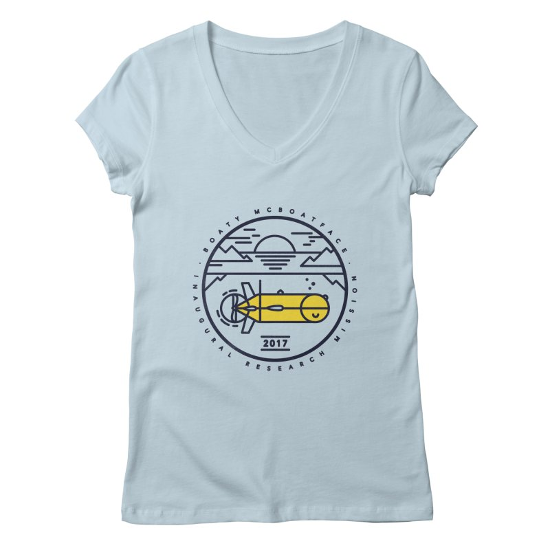 Boaty McBoatface Launch Women's Regular V-Neck by Gintron