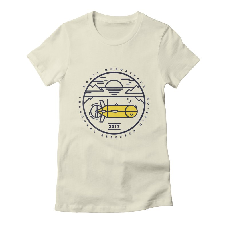 Boaty McBoatface Launch Women's Fitted T-Shirt by gintron's Artist Shop