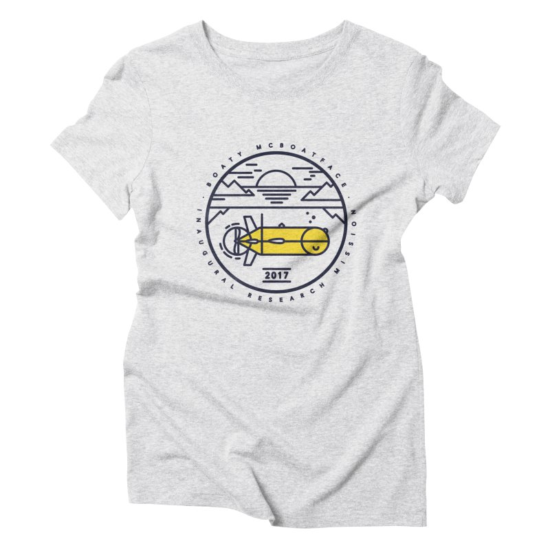 Boaty McBoatface Launch Women's Triblend T-shirt by gintron's Artist Shop