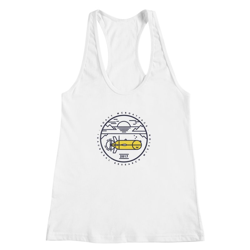 Boaty McBoatface Launch Women's Racerback Tank by gintron's Artist Shop