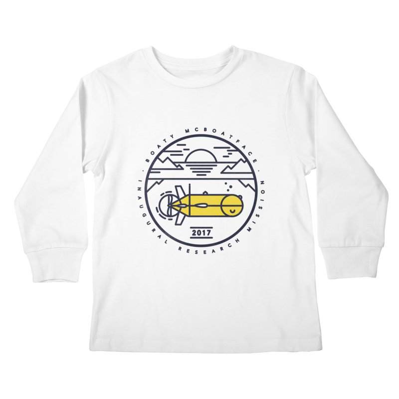 Boaty McBoatface Launch Kids Longsleeve T-Shirt by Gintron