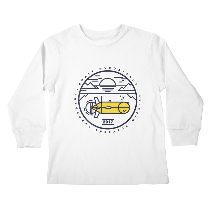 Boaty McBoatface Launch Kids Longsleeve T-Shirt by gintron's Artist Shop