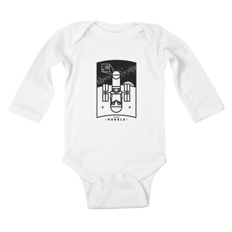 Hubble Kids Baby Longsleeve Bodysuit by gintron's Artist Shop