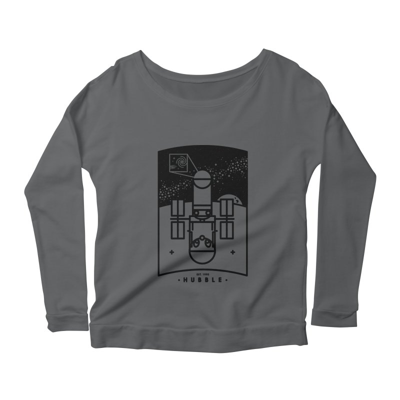 Hubble Women's Scoop Neck Longsleeve T-Shirt by gintron's Artist Shop