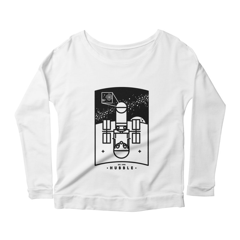 Hubble Women's Scoop Neck Longsleeve T-Shirt by gintron's Artist Shop