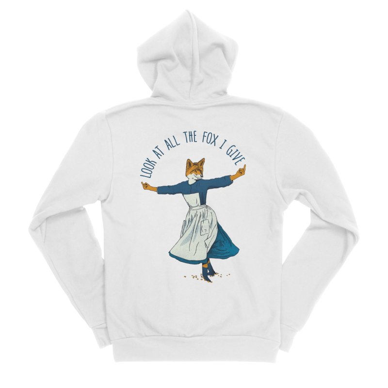 Look At All The Fox I Give - V1 Women's Zip-Up Hoody by Gintron