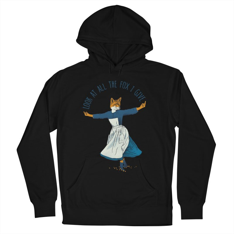 Look At All The Fox I Give - V1 Women's French Terry Pullover Hoody by gintron's Artist Shop