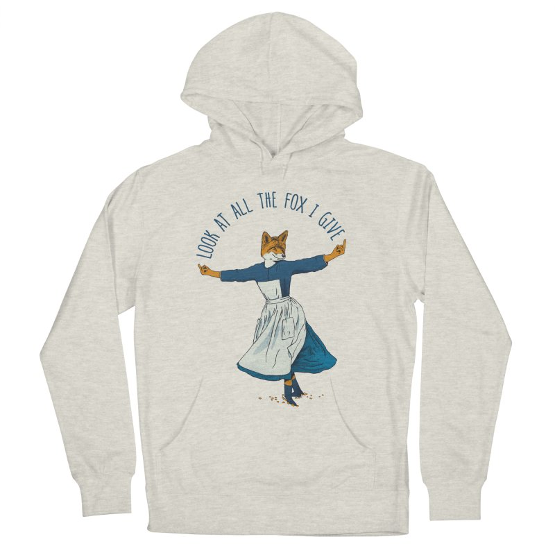Look At All The Fox I Give - V1 Men's French Terry Pullover Hoody by gintron's Artist Shop