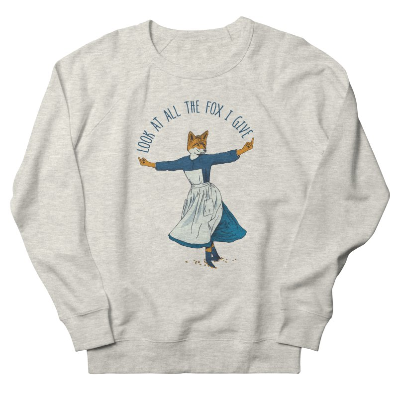 Look At All The Fox I Give - V1 Men's French Terry Sweatshirt by gintron's Artist Shop