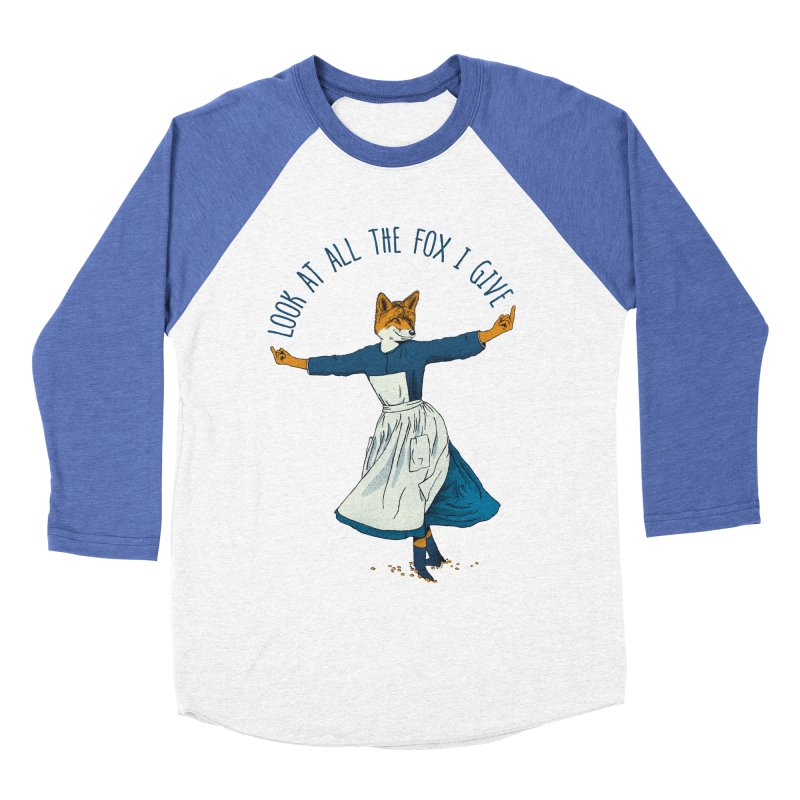 Look At All The Fox I Give - V1 Women's Baseball Triblend Longsleeve T-Shirt by gintron's Artist Shop