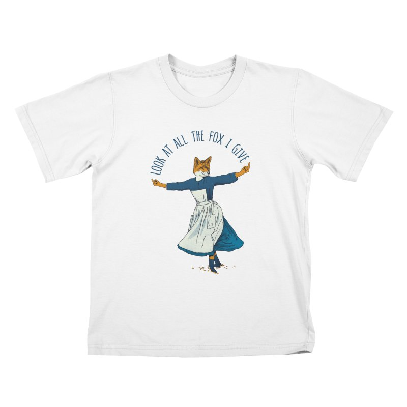 Look At All The Fox I Give - V1 Kids T-Shirt by gintron's Artist Shop