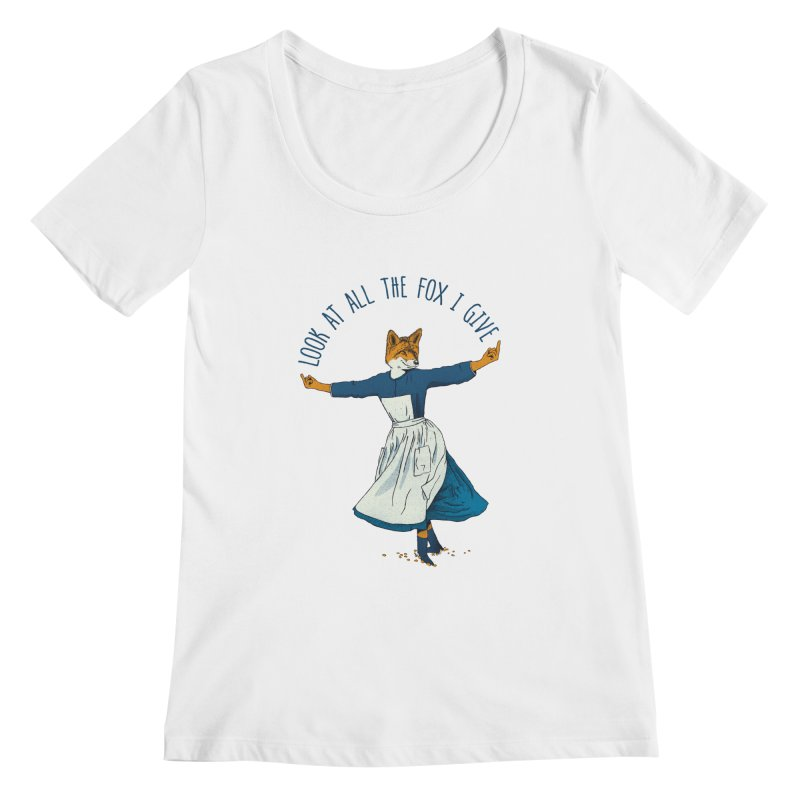 Look At All The Fox I Give - V1 Women's Scoopneck by gintron's Artist Shop