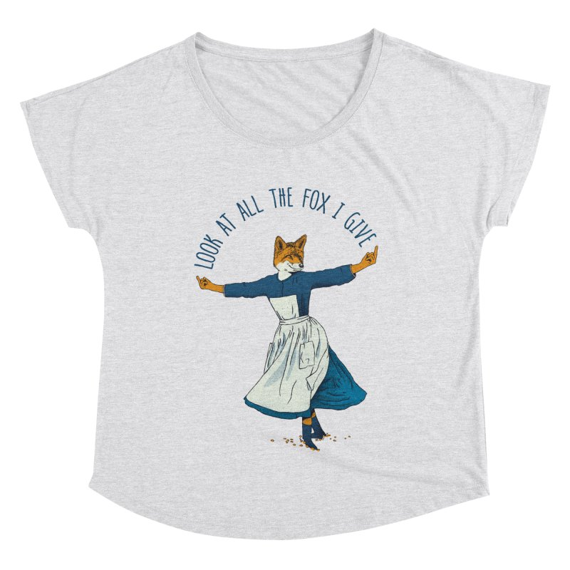 Look At All The Fox I Give - V1 Women's Scoop Neck by Gintron