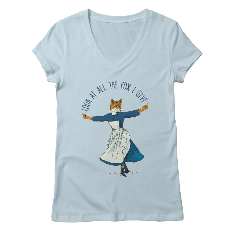 Look At All The Fox I Give - V1 Women's V-Neck by gintron's Artist Shop