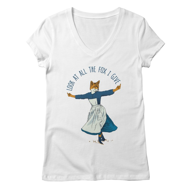 Look At All The Fox I Give - V1 Women's Regular V-Neck by gintron's Artist Shop