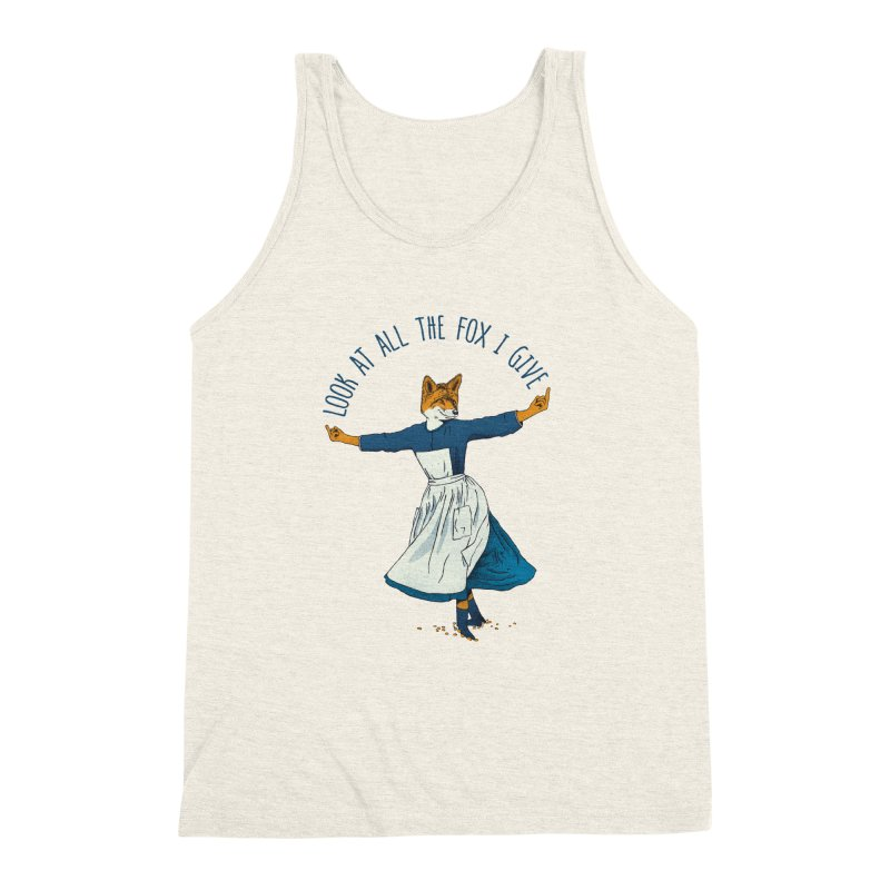 Look At All The Fox I Give - V1 Men's Triblend Tank by Gintron