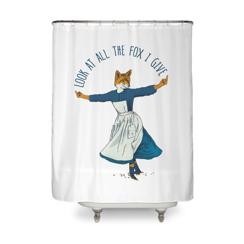 Look At All The Fox I Give - V1 Home Shower Curtain by gintron's Artist Shop