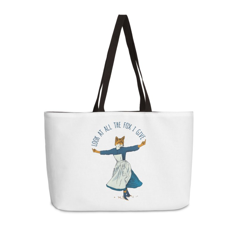 Look At All The Fox I Give - V1 Accessories Weekender Bag Bag by Gintron